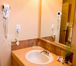 A bathroom at Third Mission Heritage Suites