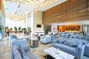 The lounge or bar area at Queen Ann Nha Trang Hotel