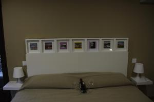 Cama o camas de una habitación en Casa Rural Casa de Chocolate