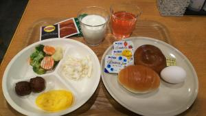 Breakfast options available to guests at Hosplitality In Yawatajuku