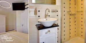 A bathroom at Strandvilla Seelust