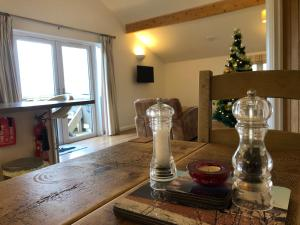 A restaurant or other place to eat at Fields End Lodges