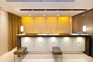 The lobby or reception area at Sotetsu Fresa Inn Yokohama Sakuragi-cho