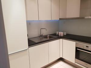 A kitchen or kitchenette at The cube 197 whardsife street Birmingham B1 1PQ