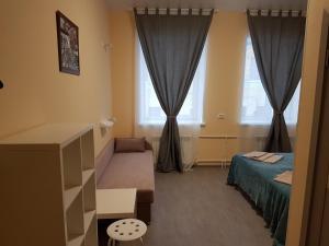 Гостиная зона в Klukva Hostel