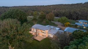 A bird's-eye view of Red Hill Ridge - Stunning unique property set on a 157-acre farm