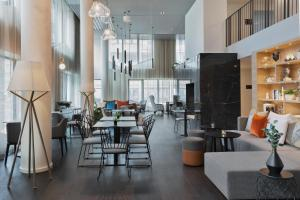 A restaurant or other place to eat at Residence Inn by Marriott Frankfurt City Center