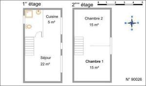 The floor plan of Gite de Grandvillars