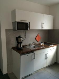 Küche/Küchenzeile in der Unterkunft Apartmenthaus Gärtner