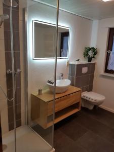 Ein Badezimmer in der Unterkunft Ferienwohnung Bergluft