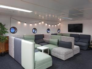 The lobby or reception area at Hotel Boat Isosaari