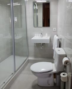 Salle de bains dans l'établissement Hotel Toledano Ramblas