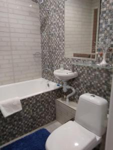 Ванная комната в Апартаменты на Франциска Скорины 26