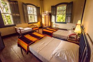 Cama ou camas em um quarto em Burle Marx na Serra da Bocaina