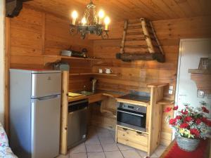 A kitchen or kitchenette at Chamonix Centre Holiday Sauna Apartment 2