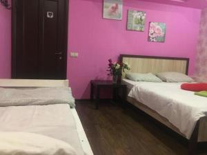 Кровать или кровати в номере Хостел Glade