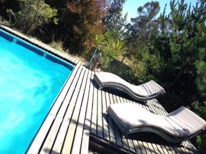 Kolam renang di atau dekat dengan Cabaña Algarrobo con piscina - Parcela