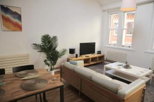 A seating area at Stunning Northern Quarter Loft Conversion