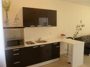 A kitchen or kitchenette at Apartments Amfora