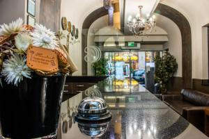 The lobby or reception area at Carat Boutique Hotel