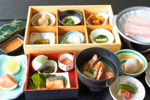 Breakfast options available to guests at Kasuitei Ooya