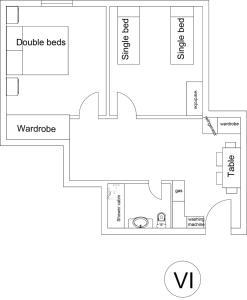 A planta de Leyla Apartments 6 At Fountain Square