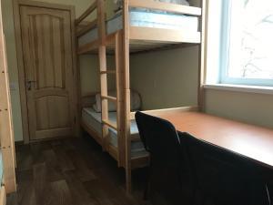 Двухъярусная кровать или двухъярусные кровати в номере Hostel RESTart
