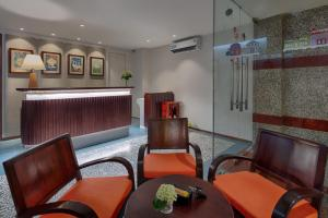 A seating area at Little Saigon Boutique Hotel