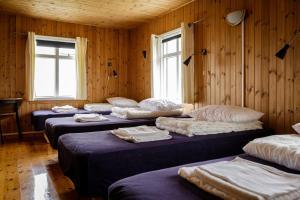 Ein Bett oder Betten in einem Zimmer der Unterkunft Ósar Hostel