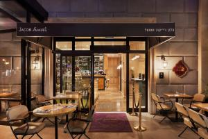 A restaurant or other place to eat at Jacob Samuel Hotel Tel Aviv