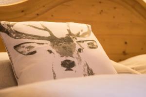 Ein Bett oder Betten in einem Zimmer der Unterkunft Landhaus Linden