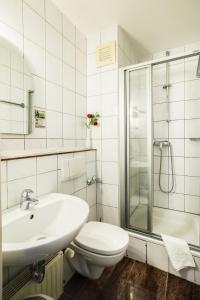 A bathroom at Hotel Domblick Garni