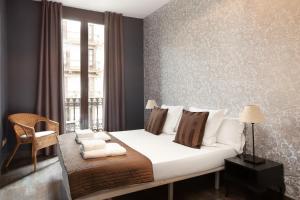 Cama o camas de una habitación en EasySleep Gaudi Terrace
