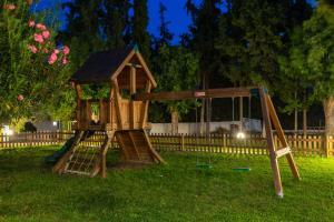 Children's play area at Matoula Beach