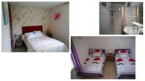 Postel nebo postele na pokoji v ubytování Gîte Mille Fleurs