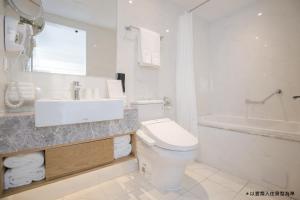 A bathroom at The Carlton Taichung