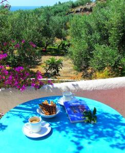 Vista sulla piscina di Ierapetra La Luna Blu o su una piscina nei dintorni