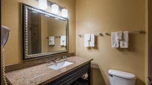 A bathroom at Best Western Bowie Inn & Suites