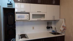 Кухня или мини-кухня в Apartamenty u Tatiany na Svetlane