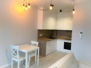 A kitchen or kitchenette at Lux Apartment