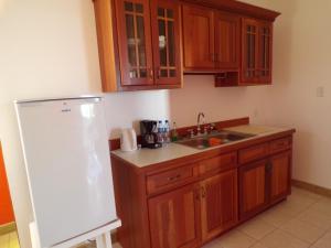 A kitchen or kitchenette at Bamboleo Inn Belize