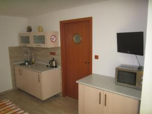 Kuchyň nebo kuchyňský kout v ubytování Penzion Letná