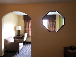 A television and/or entertainment center at America Best Value Inn and Suites Warsaw