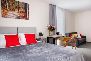 Łóżko lub łóżka w pokoju w obiekcie Willa Mała Czyrna