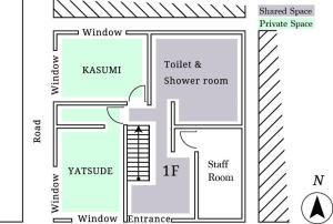 The floor plan of hanare