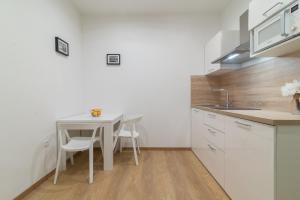 A kitchen or kitchenette at Studios & Apartments Porto