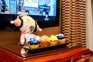 Een TV en/of entertainmentcenter bij Grand Hotel Via Veneto