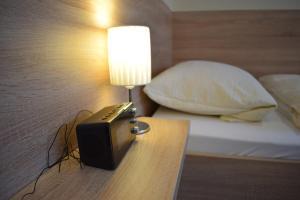 Ein Bett oder Betten in einem Zimmer der Unterkunft Pension Ethner