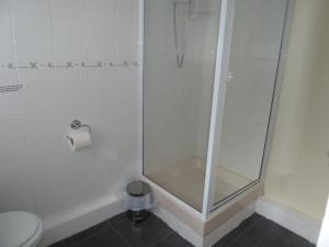 A bathroom at Mid Wales Inn