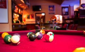 A billiards table at Todd Tavern